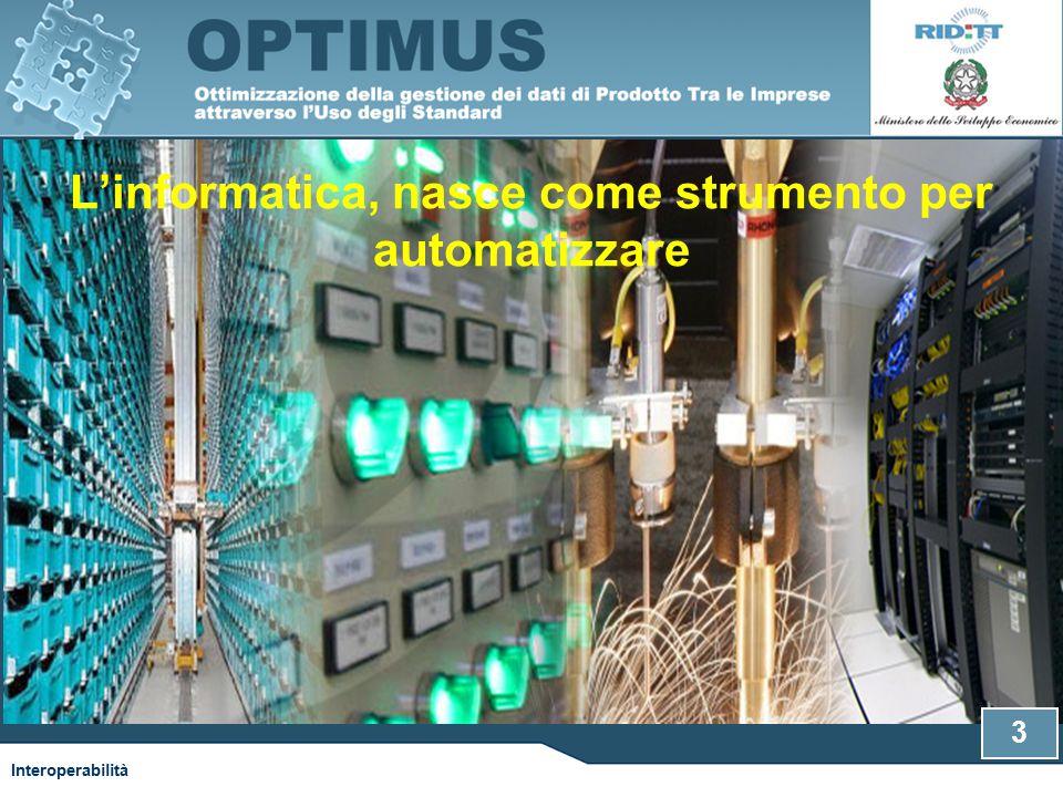 L'informatica, nasce come strumento per automatizzare 3 Interoperabilità