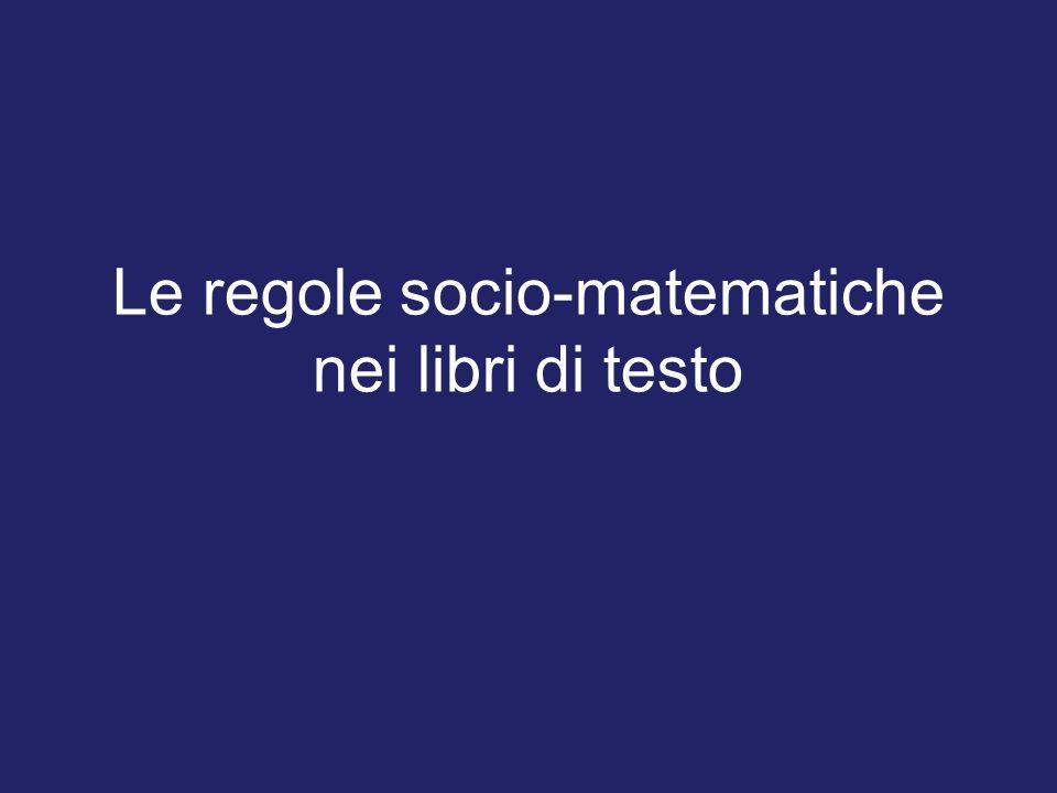 Le regole socio-matematiche nei libri di testo