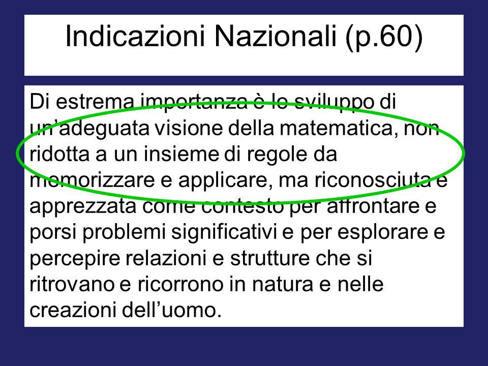 Nicola  I.: 'Perché invece di ricordarti cosa devi fare, non provi a risolverla da solo?'  N.: 'La matematica è fatta di regole ben precise che vanno seguite, non ci si può inventare nulla.