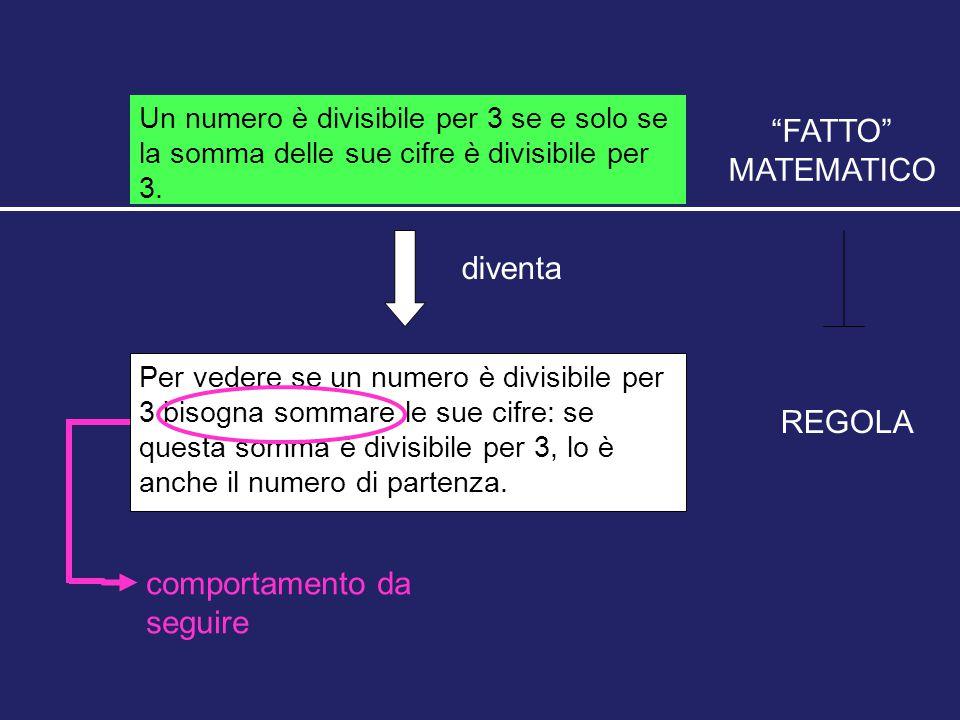 Un numero è divisibile per 3 se e solo se la somma delle sue cifre è divisibile per 3. diventa Per vedere se un numero è divisibile per 3 bisogna somm