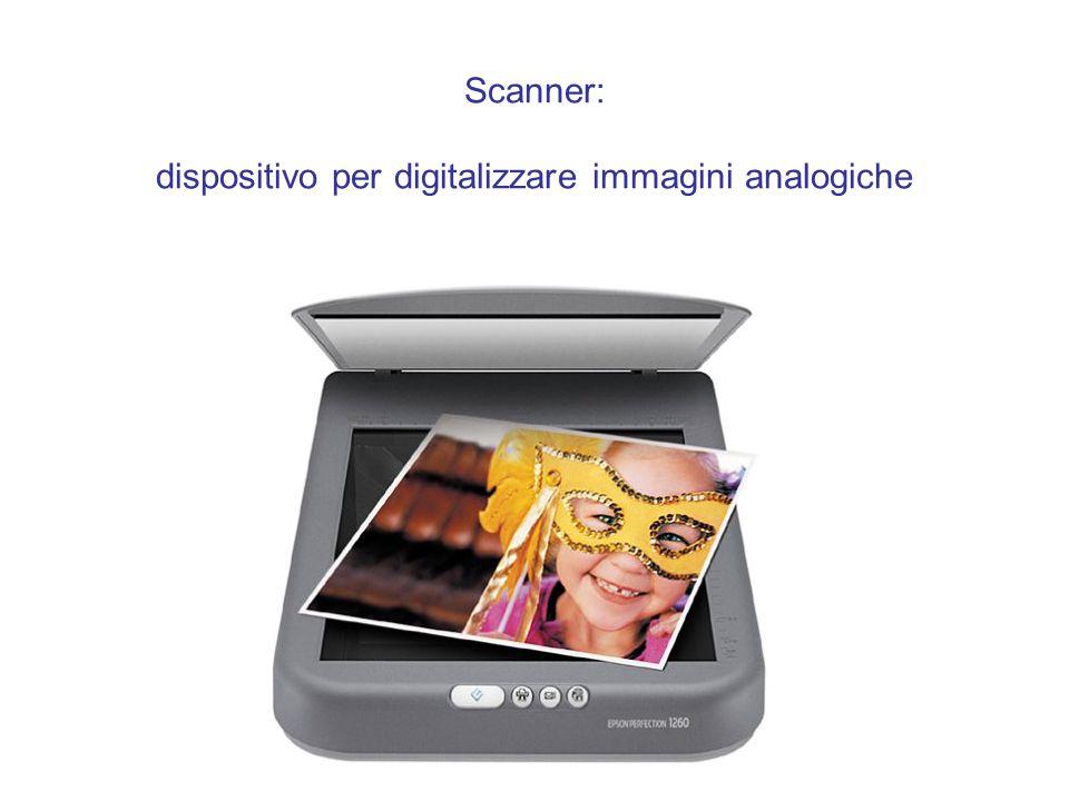 Scanner: dispositivo per digitalizzare immagini analogiche