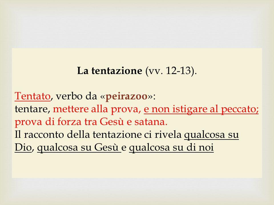 Insegnamenti del racconto della tentazione (vv.12-13).