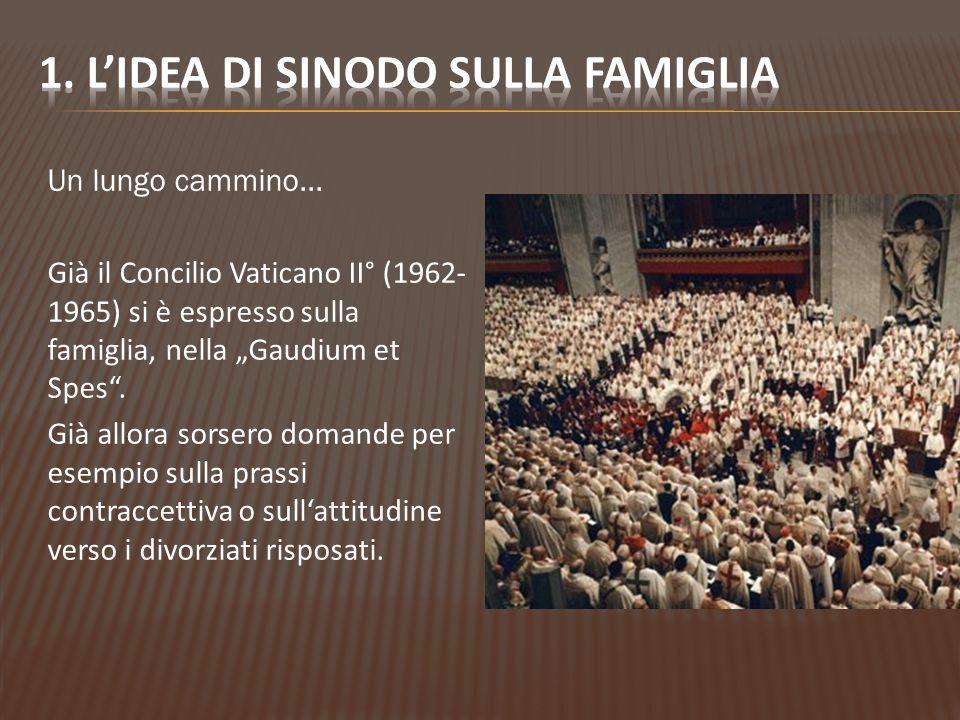 """Un lungo cammino… Già il Concilio Vaticano II° (1962- 1965) si è espresso sulla famiglia, nella """"Gaudium et Spes ."""