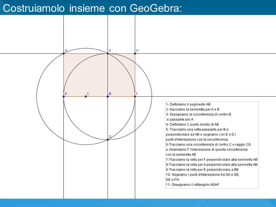 Costruiamolo insieme con GeoGebra: