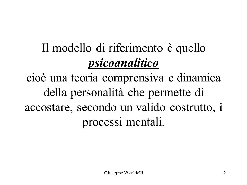 PSICODIAGNOSTICA (anno 2011 – 2012) 1Giuseppe Vivaldelli