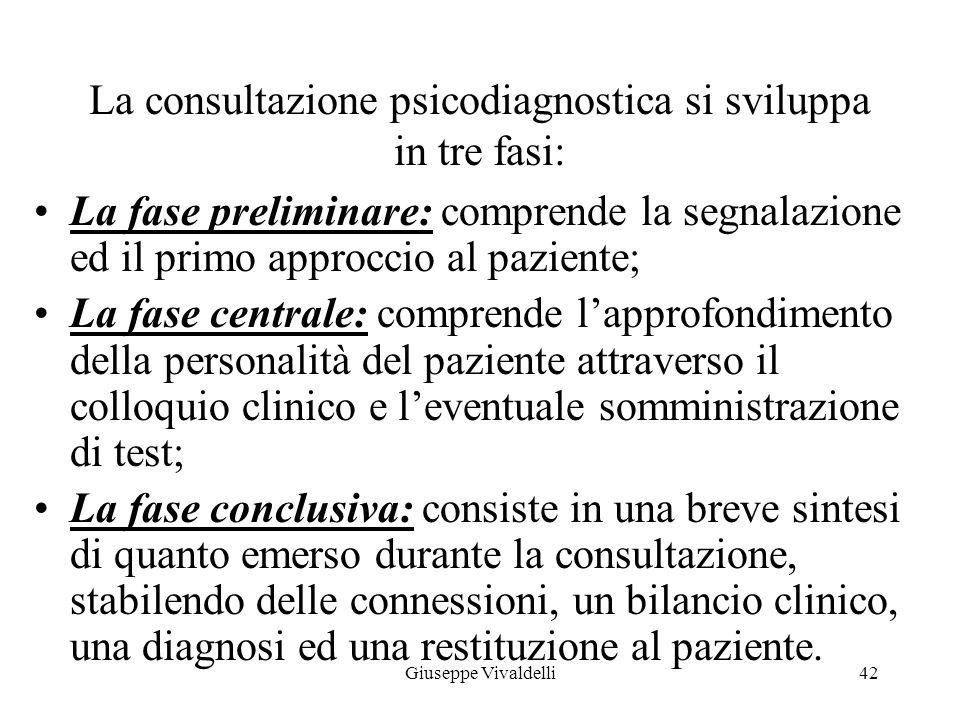 E' importante che il paziente possa cogliere la specificità della situazione di consultazione come un incontro in cui il capire è un processo tra lo p