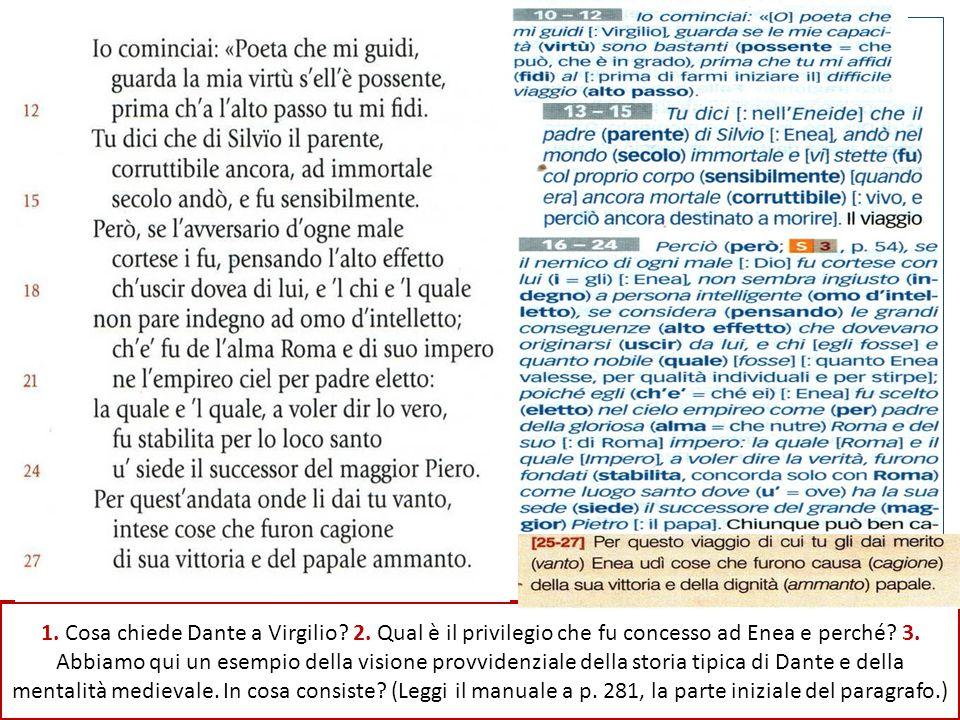 Seconda sequenza: vv. 10-42 Nel suo discorso a Virgilio Dante menziona due personaggi molto importanti. Chi sono?
