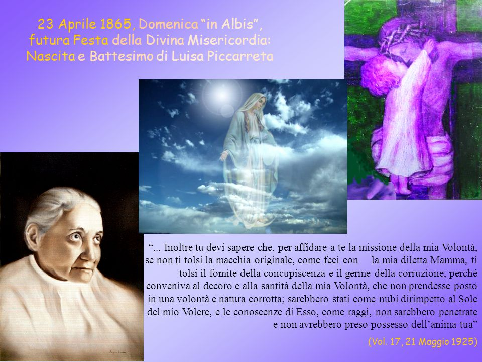 Luisa, la Piccola Figlia della Divina Volontà Lo Spirito stesso attesta al nostro spirito che siamo figli di Dio (Rom.