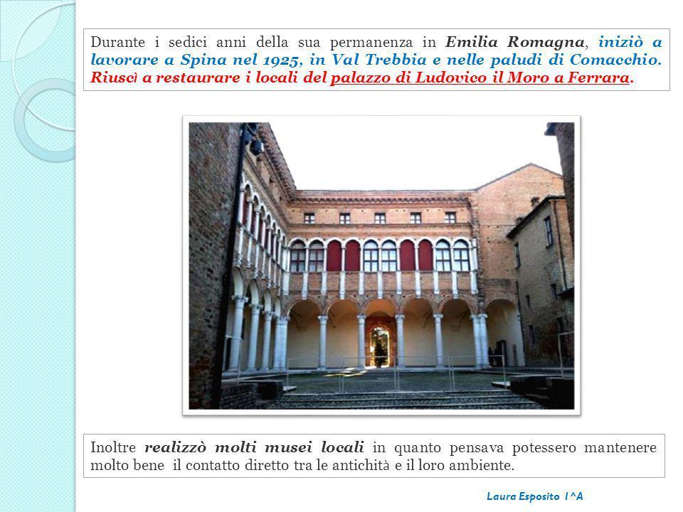 Durante i sedici anni della sua permanenza in Emilia Romagna, iniziò a lavorare a Spina nel 1925, in Val Trebbia e nelle paludi di Comacchio. Riusc ì