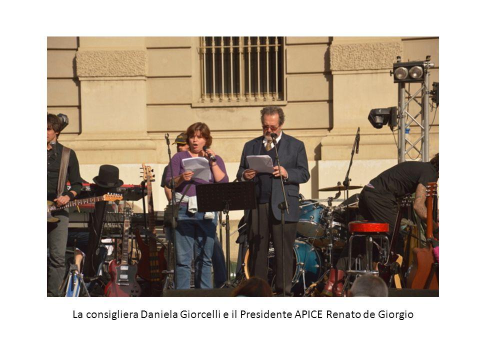 La consigliera Daniela Giorcelli e il Presidente APICE Renato de Giorgio