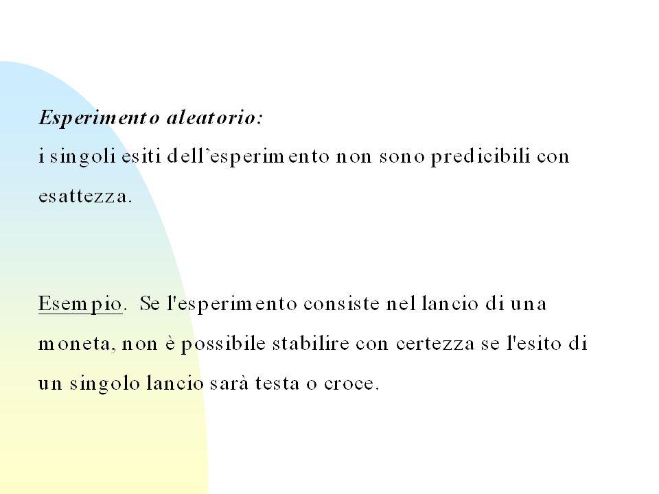 Indipendenza stocastica Nota: p(B|A)=p(A  B)/p(A)=0.15/0.5=0.3=p(B) anche B è stocasticamente indipendente da A.