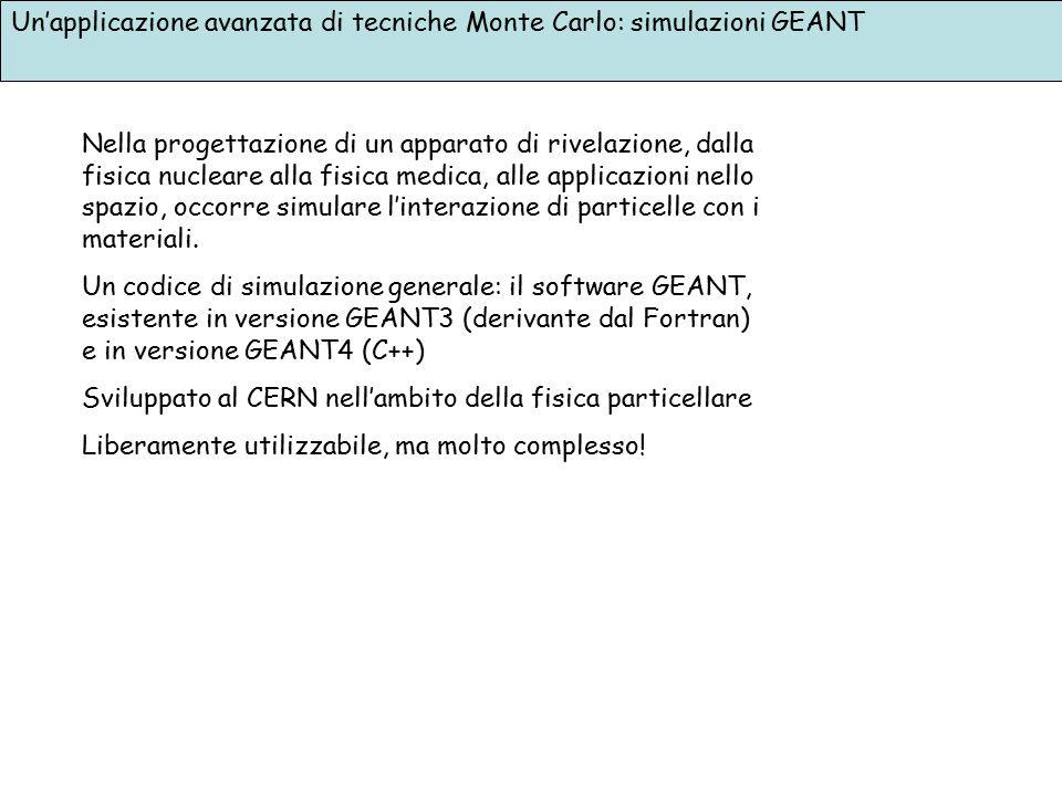 Un'applicazione avanzata di tecniche Monte Carlo: simulazioni GEANT Nella progettazione di un apparato di rivelazione, dalla fisica nucleare alla fisi