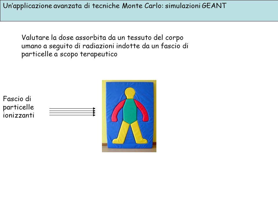 Un'applicazione avanzata di tecniche Monte Carlo: simulazioni GEANT Valutare la dose assorbita da un tessuto del corpo umano a seguito di radiazioni i