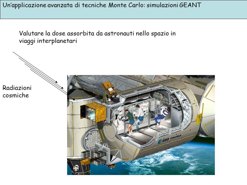 Un'applicazione avanzata di tecniche Monte Carlo: simulazioni GEANT Valutare la dose assorbita da astronauti nello spazio in viaggi interplanetari Rad
