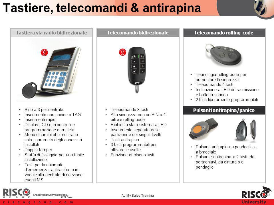 Agility Sales Training Telecomando rolling-codeTelecomando bidirezionaleTastiera via radio bidirezionale Tastiere, telecomandi & antirapina Sino a 3 p
