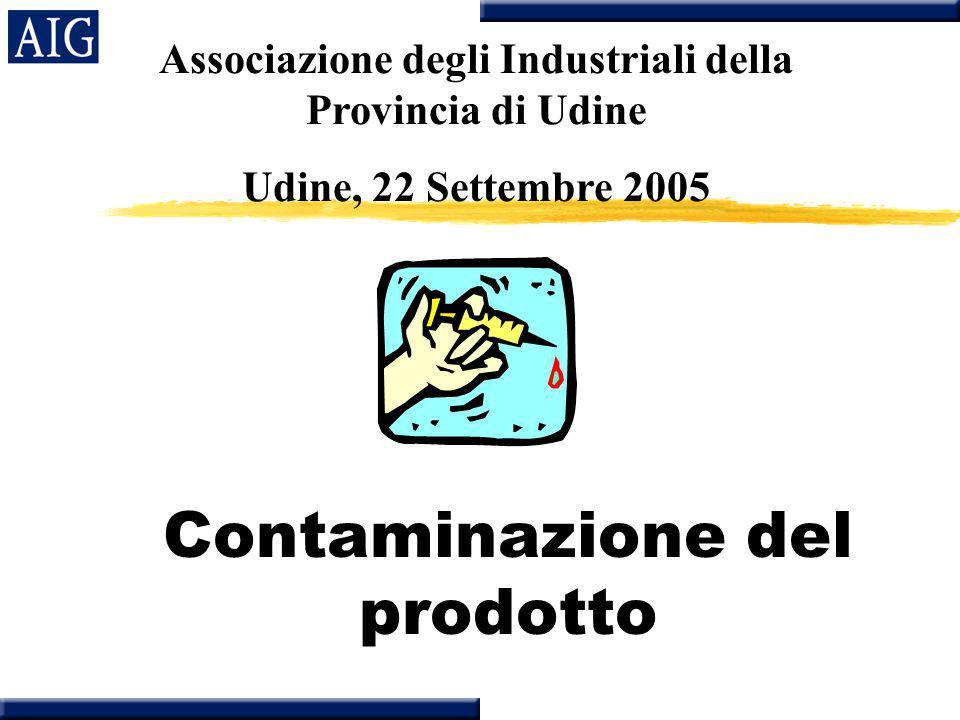 EVENTI RECENTI zAMSTEL- 1milione di bottiglie ritirate in UK nel Novembre 97 zHUDSON FOOD:1.2 milioni di libbre di carne surgelata ritirata in USA per contaminazione con E coli nel Giugno 97