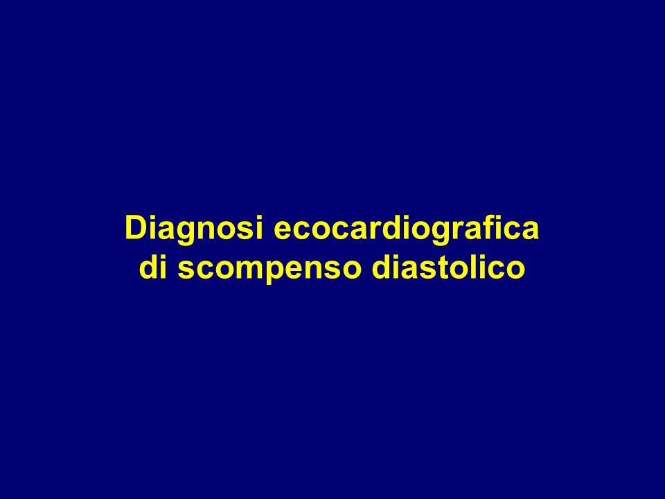 Diagnosi ecocardiografica di scompenso diastolico