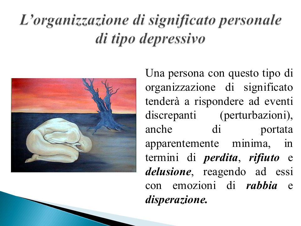 Lo sviluppo dell'identità Il significato personale è centrato sul senso di solitudine ed è organizzato in un circuito ricorrente di schemi emozionali che oscillano tra lo scetticismo e la rabbia; successivamente, l'ordinamento esplicito o cosciente si configura in un'immagine negativa di sé e in una attribuzione interna, globale e stabile.