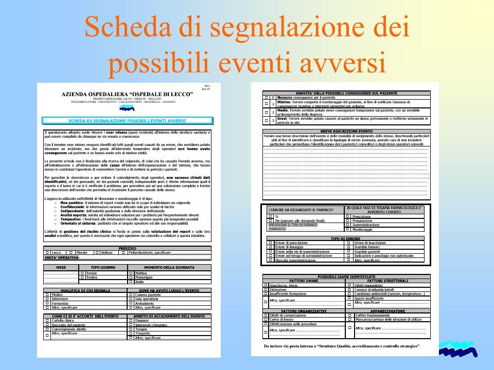 6 Scheda di segnalazione dei possibili eventi avversi