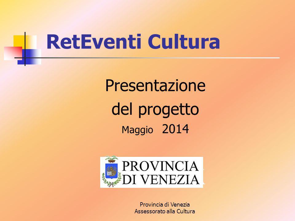 Provincia di Venezia Assessorato alla Cultura Presentazione del progetto Maggio 2014 RetEventi Cultura