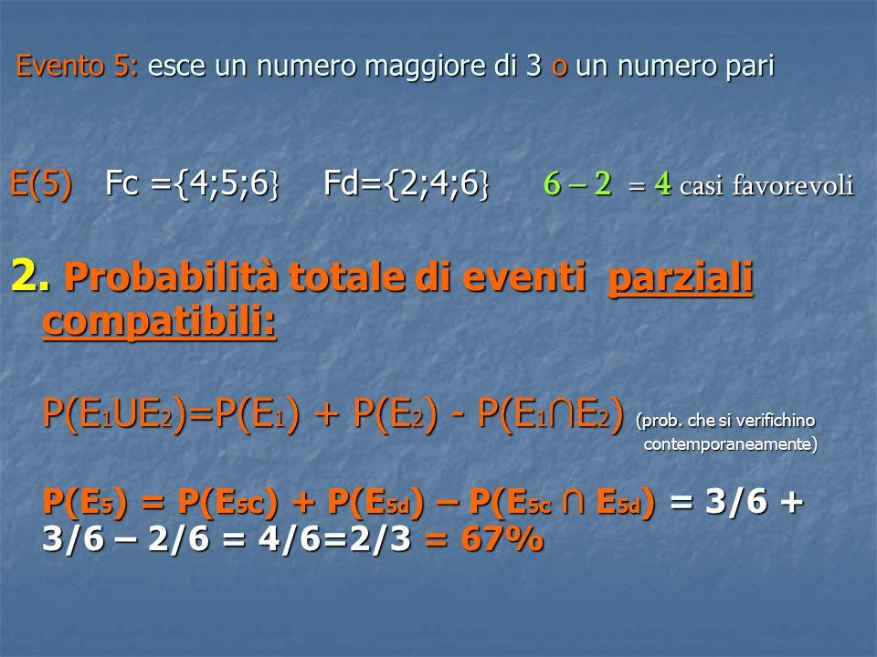 EVENTO COMPOSTO: più eventi semplici che si verificano in più prove Probabilità composta: probabilità che gli eventi semplici si verifichino contemporaneamente ( e → x) Probabilità composta: probabilità che gli eventi semplici si verifichino contemporaneamente ( e → x) 1.