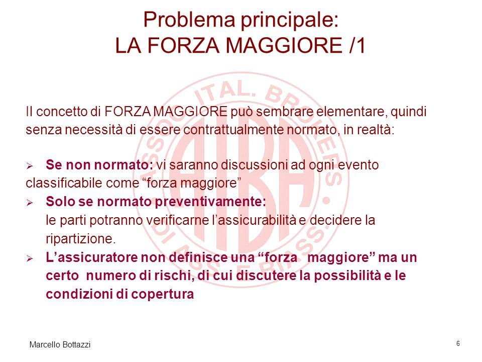Marcello Bottazzi 7 Problema principale: LA FORZA MAGGIORE /2