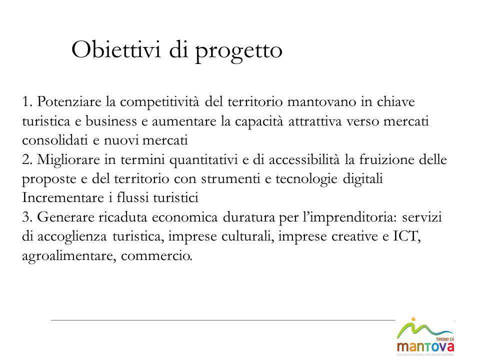 1. Potenziare la competitività del territorio mantovano in chiave turistica e business e aumentare la capacità attrattiva verso mercati consolidati e