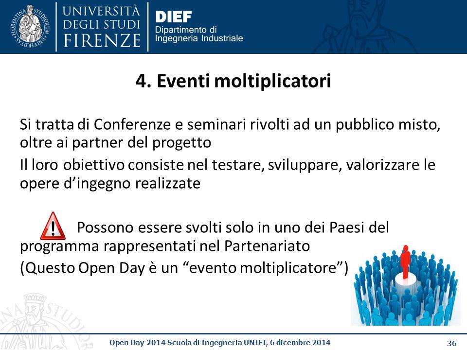 36 Open Day 2014 Scuola di Ingegneria UNIFI, 6 dicembre 2014 4.