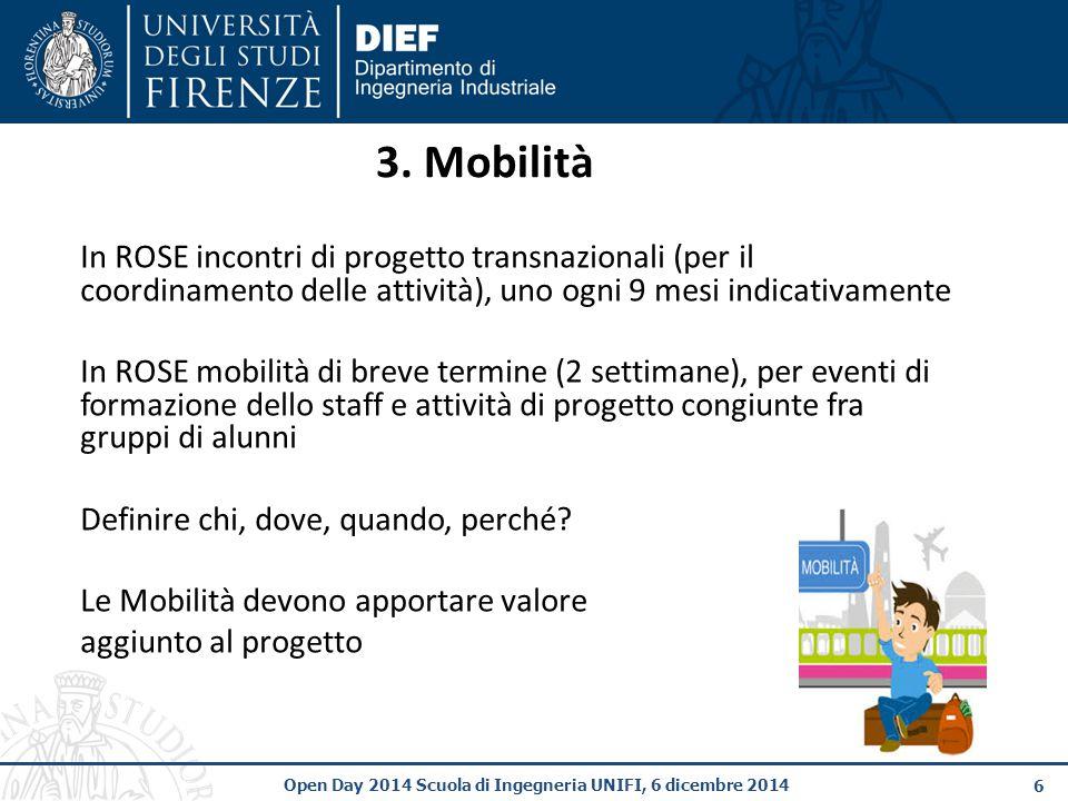 6 Open Day 2014 Scuola di Ingegneria UNIFI, 6 dicembre 2014 3.