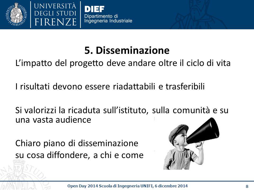 19 Open Day 2014 Scuola di Ingegneria UNIFI, 6 dicembre 2014 Sottoscrizione dell'accordo (Grant Agreement)