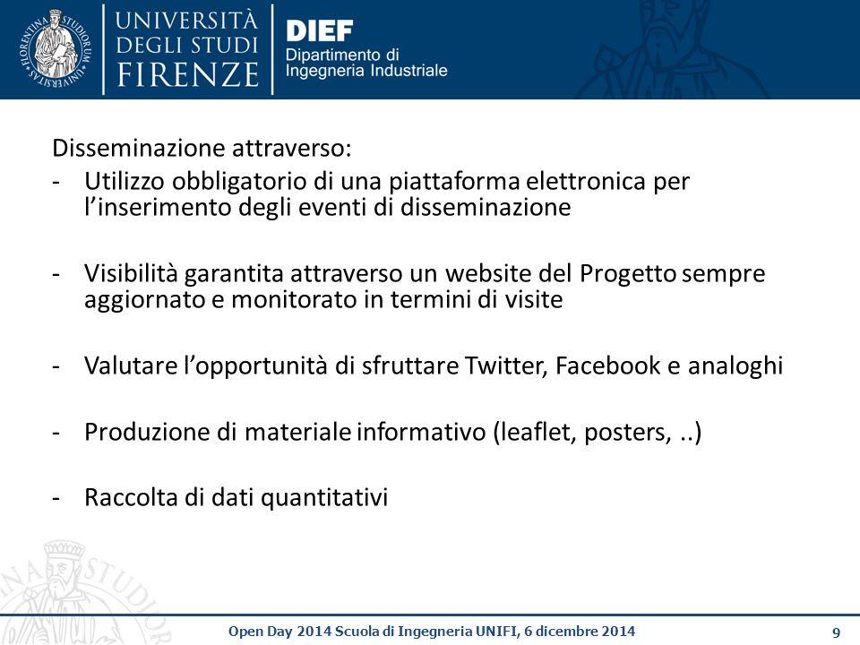 10 Open Day 2014 Scuola di Ingegneria UNIFI, 6 dicembre 2014 6.