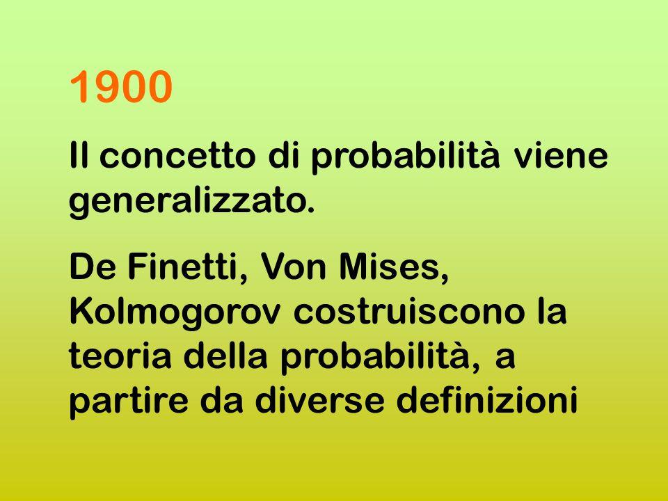 1800 Laplace definisce i fondamenti del calcolo delle probabilità