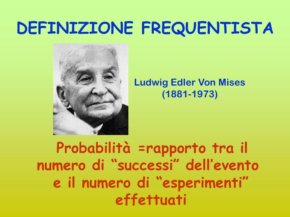 DEFINIZIONE SOGGETTIVA Probabilità = quanto un soggetto coerente è disposto a scommettere sul verificarsi dell'evento Bruno De Finetti (1906-1985)