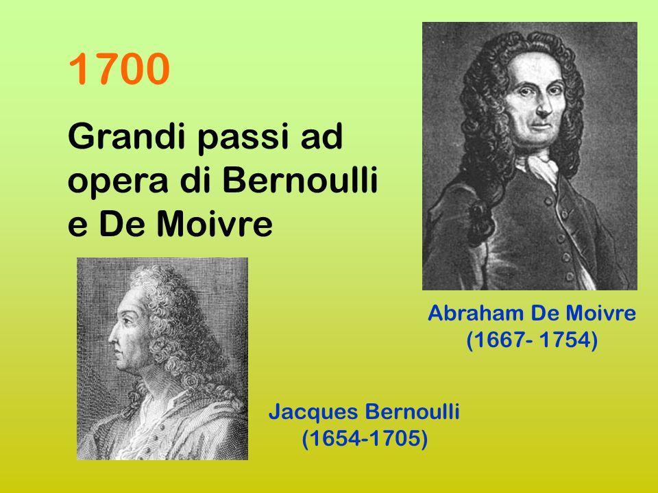 1654 carteggio tra Pascal e Fermat Il cavaliere De Méré, fanatico giocatore, pone alcuni quesiti a Pascal Pierre de Fermat (1601-1665) Blaise Pascal (