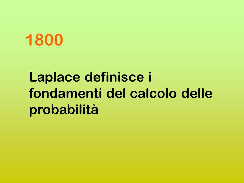 Jacques Bernoulli (1654-1705) 1700 Grandi passi ad opera di Bernoulli e De Moivre Abraham De Moivre (1667- 1754)