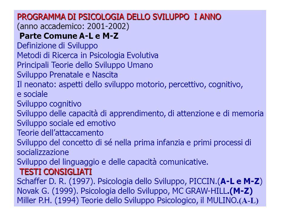 Lezioni di Psicologia dello Sviluppo Prof. Marina Pinelli Dipartimento di Psicologia B.go Carissimi, 10 43100 PARMA Tel. 0521034830 E-mail:mpinelli@un