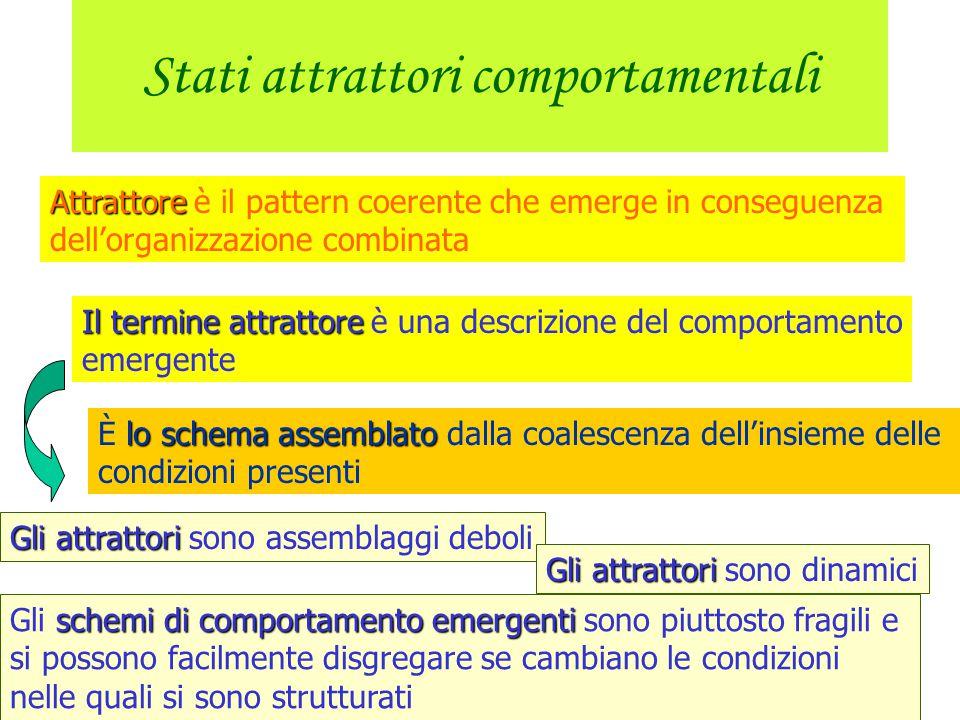 Organizzazione attraverso le contingenze Il compito è importante per l'organizzazione del comportamento Il comportamento è funzionale cioè produce un
