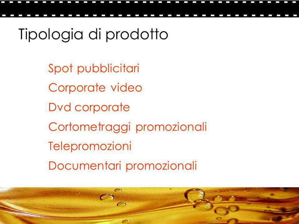 12 - La comunicazione PARADIGMA FILM PRODUCTION Tipologia di prodotto Spot pubblicitari Corporate video Dvd corporate Cortometraggi promozionali Telep