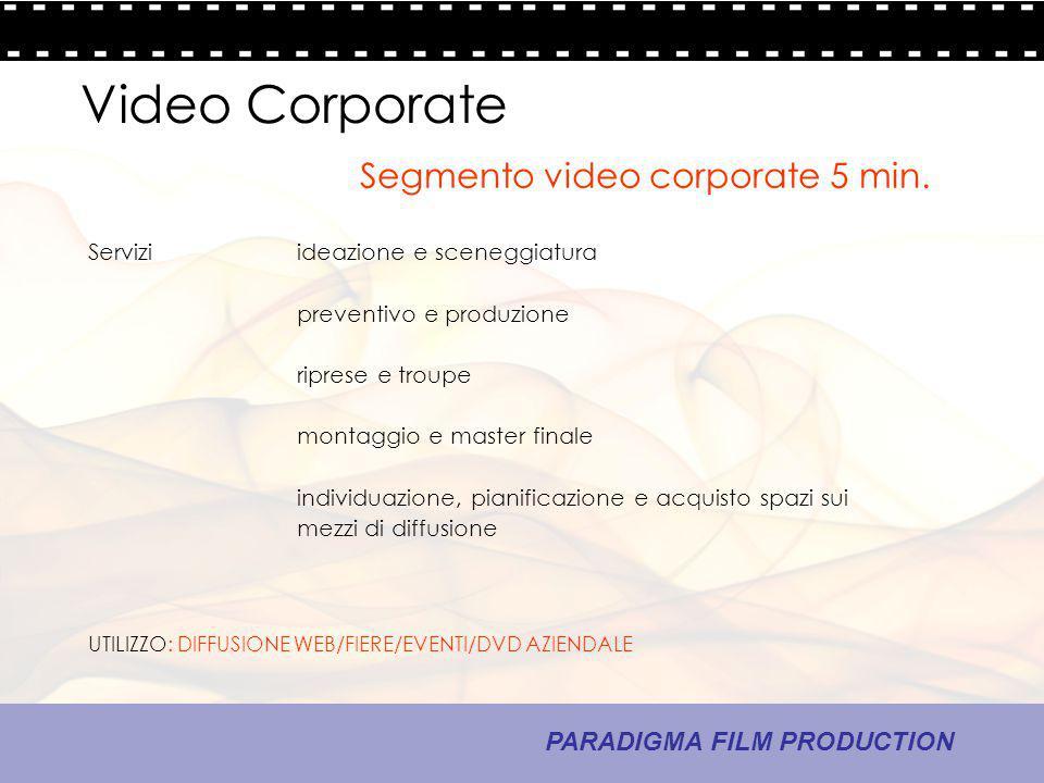 14 - La comunicazione PARADIGMA FILM PRODUCTION Video Corporate Serviziideazione e sceneggiatura preventivo e produzione riprese e troupe montaggio e