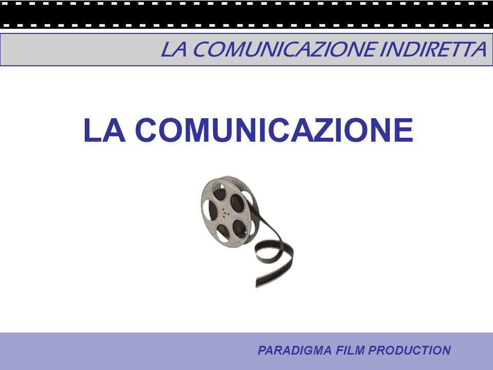 5 - La comunicazione PARADIGMA FILM PRODUCTION LA COMUNICAZIONE INDIRETTA LA COMUNICAZIONE