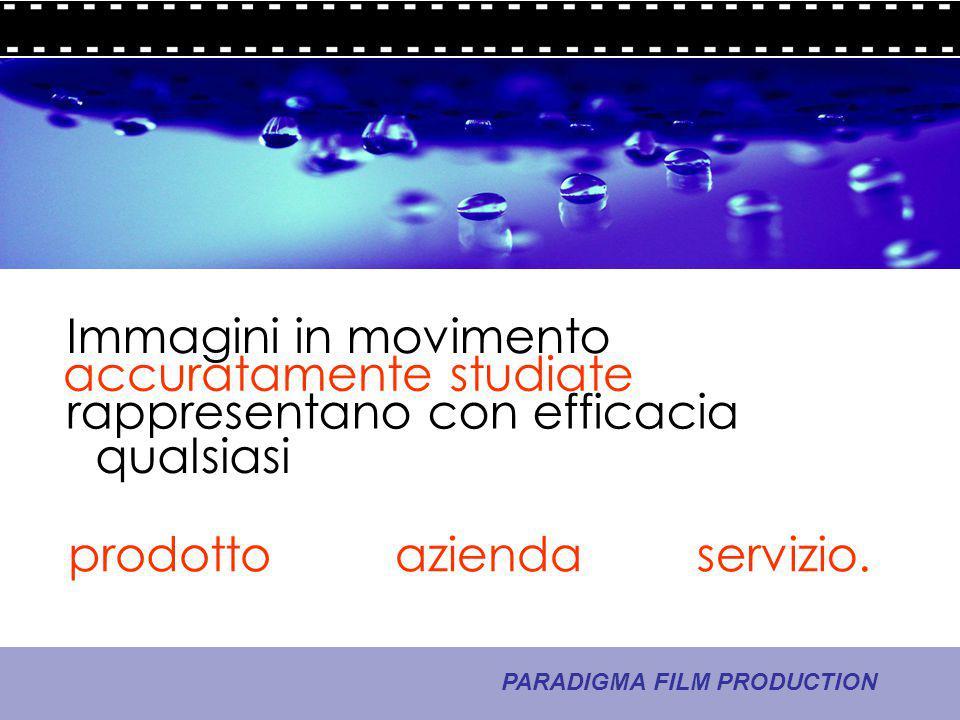 8 - La comunicazione PARADIGMA FILM PRODUCTION che va dritta allo scopo.