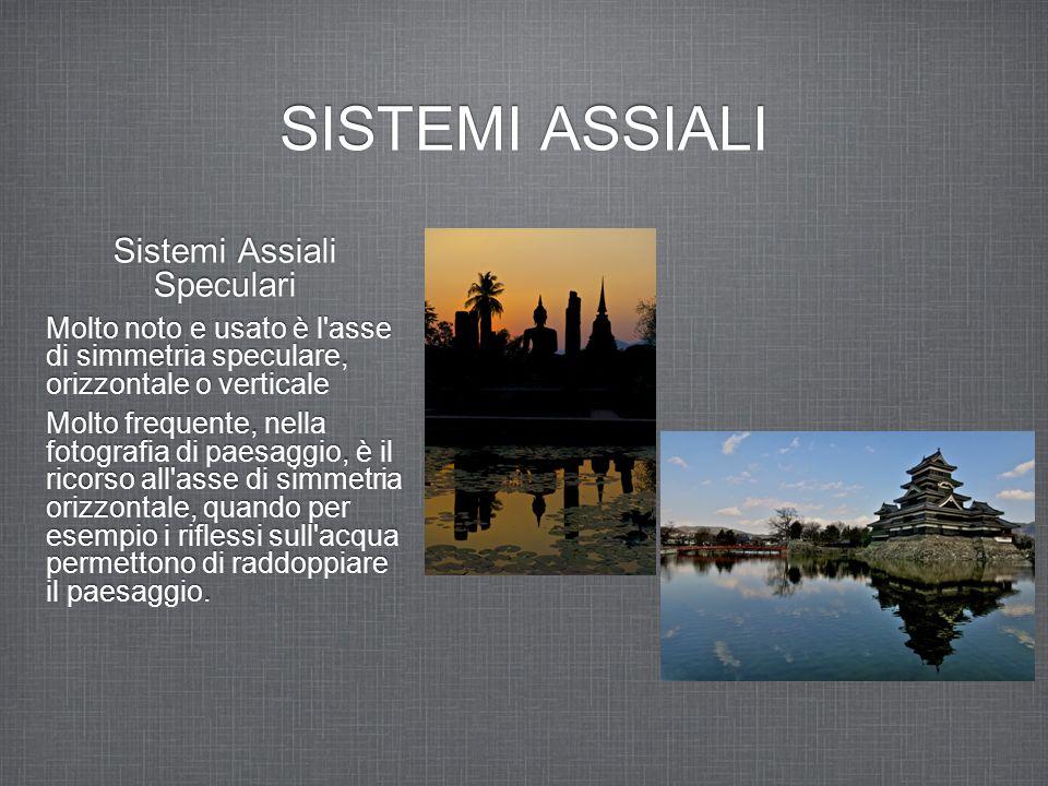 SISTEMI ASSIALI Sistemi Assiali Speculari Molto noto e usato è l'asse di simmetria speculare, orizzontale o verticale Molto frequente, nella fotografi