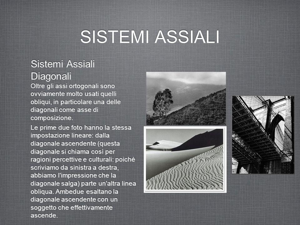 SISTEMI ASSIALI Sistemi Assiali Diagonali Oltre gli assi ortogonali sono ovviamente molto usati quelli obliqui, in particolare una delle diagonali com