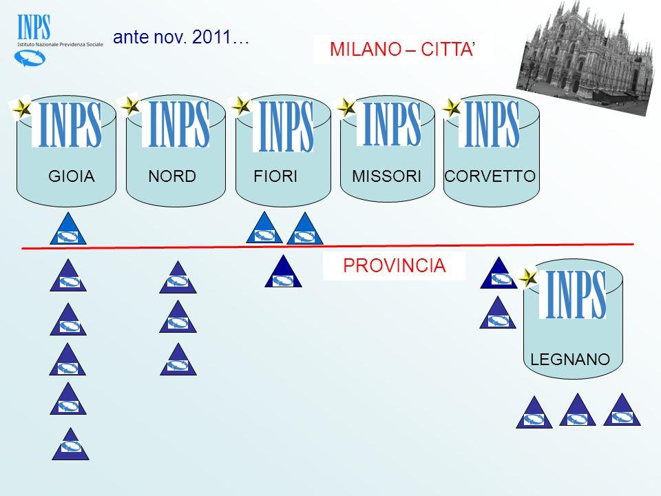 PROVINCIA GIOIANORD FIORIMISSORICORVETTO LEGNANO MILANO – CITTA' ante nov. 2011…
