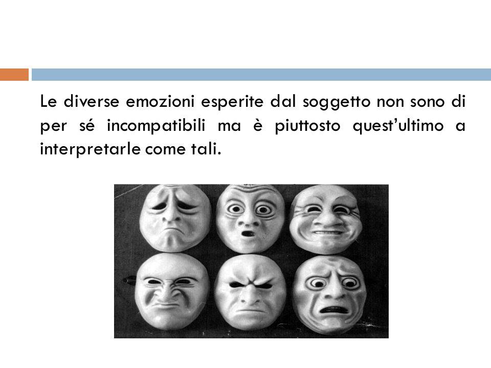 Le diverse emozioni esperite dal soggetto non sono di per sé incompatibili ma è piuttosto quest'ultimo a interpretarle come tali.