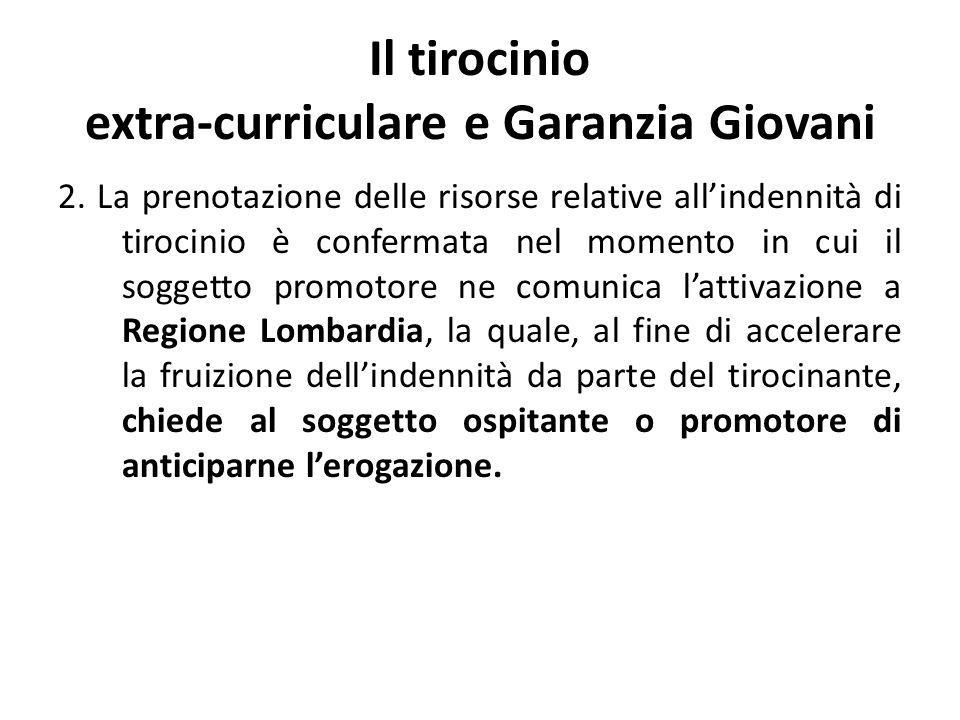 Il tirocinio extra-curriculare e Garanzia Giovani 3.