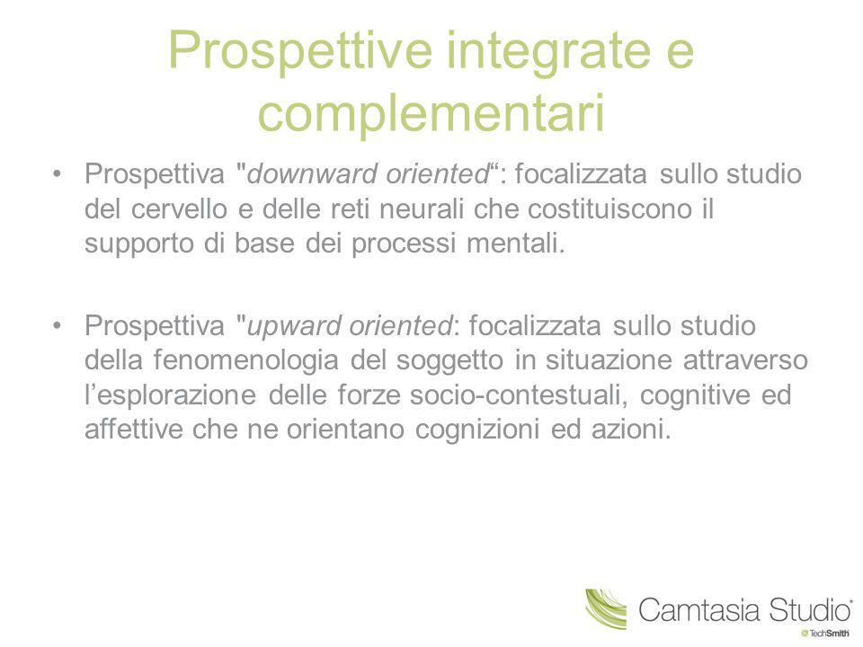 Prospettive integrate e complementari Prospettiva