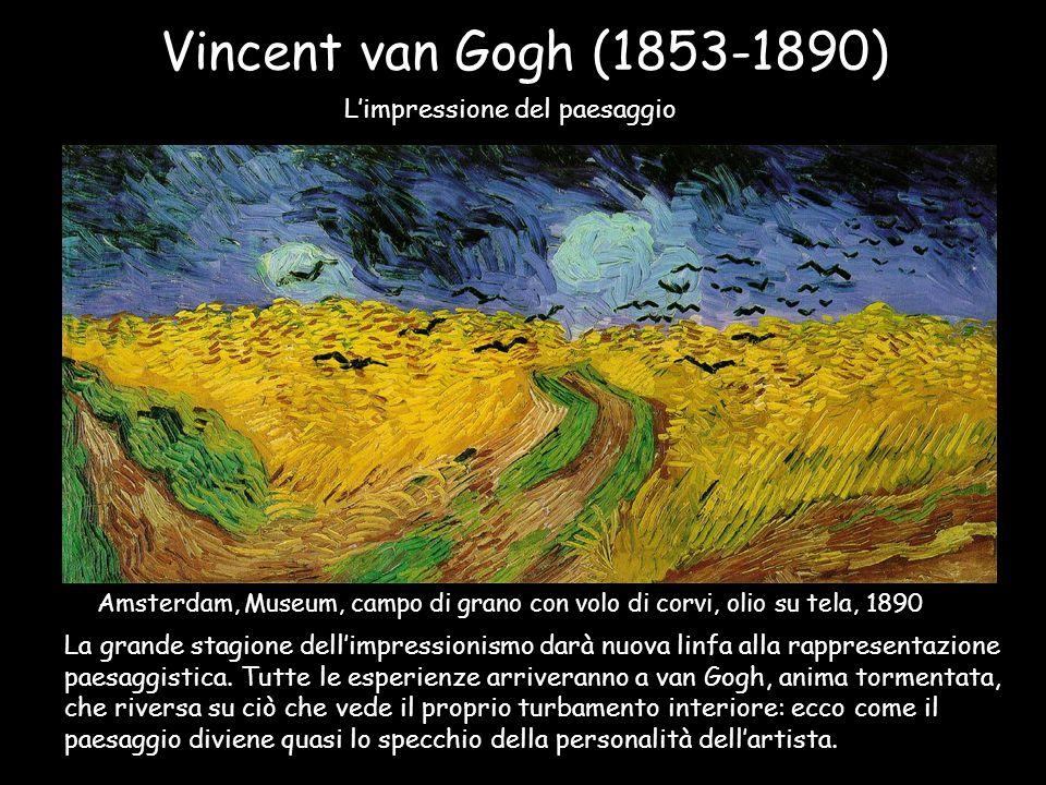 Vincent van Gogh (1853-1890) L'impressione del paesaggio Amsterdam, Museum, campo di grano con volo di corvi, olio su tela, 1890 La grande stagione de