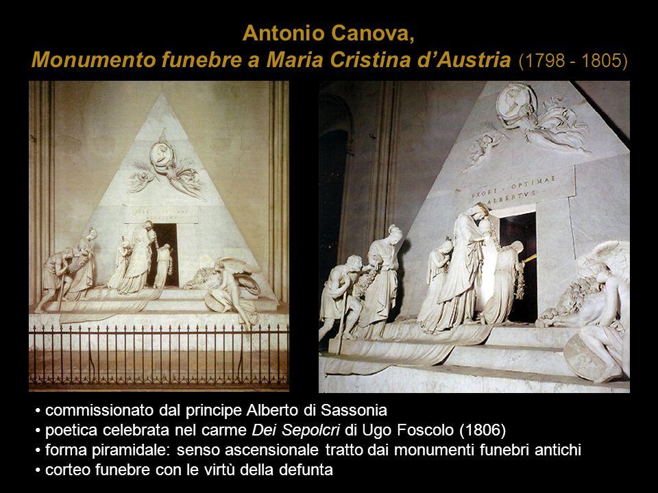 Antonio Canova, Monumento funebre a Maria Cristina d'Austria (1798 - 1805) commissionato dal principe Alberto di Sassonia poetica celebrata nel carme