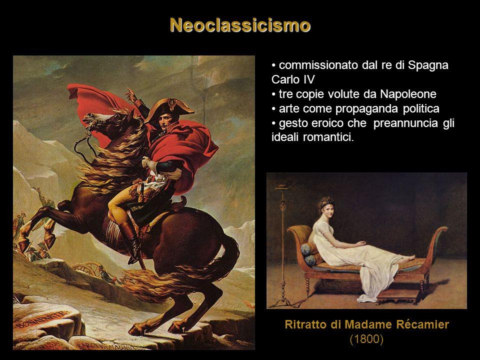 Neoclassicismo commissionato dal re di Spagna Carlo IV tre copie volute da Napoleone arte come propaganda politica gesto eroico che preannuncia gli id